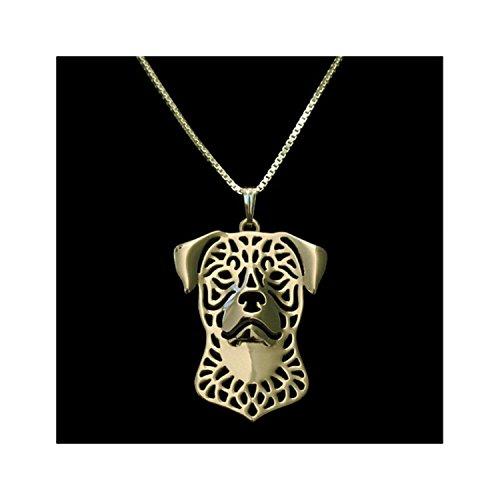 Rottweiler Pendant (Gold Rottweiler Necklace)