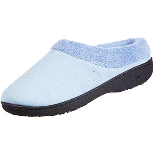 Pantofole Blu Misti Classiche Microterry Donna Piccolo Hoodback Da Isotoner Bonnie A516qwU