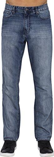 Big Tall Designer Jeans - Calvin Klein Men's Slim Straight Jeans, Chalked Indigo, 34x30