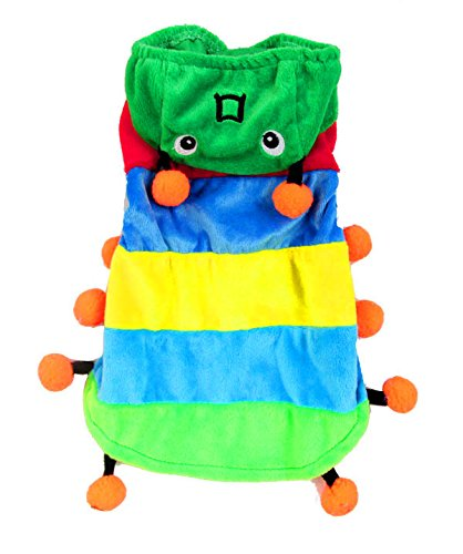 [Smalllee_Lucky_Store Caterpillar Costume, X-Small, Rainbow] (Business Suit Dog Costume)