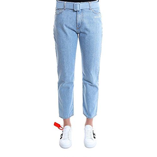 Jeans white Off Donna Azzurro Cotone Owya004s189551447101 8Ox44S
