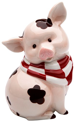 StealStreet SS-CG-61760, 5.5 Inch Sitting Pink Pig with Brown Mud Spots Money Piggy Bank (Pigs Porcelain)