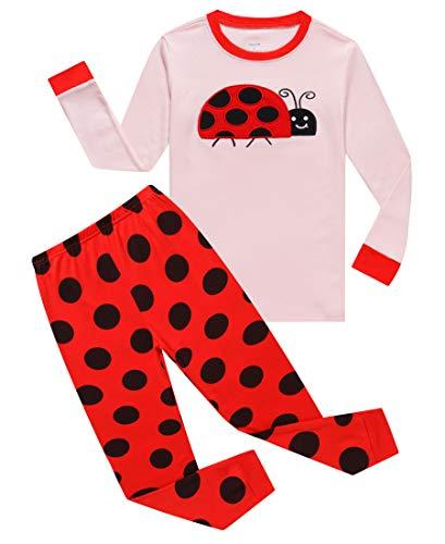 KikizYe Ladybug Baby Girls Long Sleeve Pajama Sets 100% Cotton Pjs Infant Size 18-24 Mothes]()