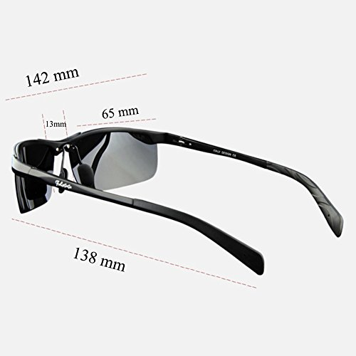 Hombre de Deportivas y 3 Sol UV400 Gafas Mujer para Conducir gris de Polarizadas Sol con Pesca Gafas Protección Ofq6wdnOU