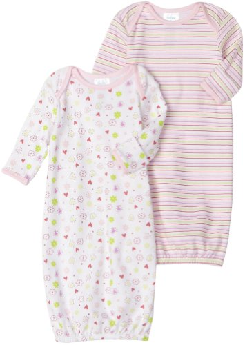 Spasilk 2 Pack Gown - 2 Girl Prints