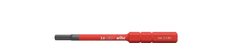 Wiha 37227 2831-18 SW slim-Vario VDE Embout de vissage 6 pans isol/é pour porte-embout slimVario 6,0 x 75