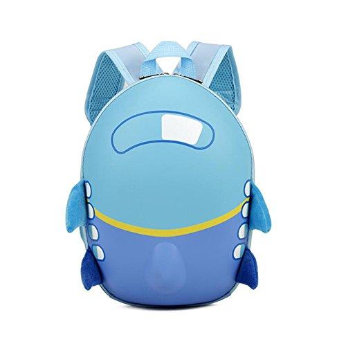 pinnaclet1バックパックfor Children幼児用キッズ、子供防水調整可能なショルダーストラップ幼児Preschoolバッグ、遊び心断熱ランチボックスキャリーバッグ、かわいいAircraft 12.6 x 6 x 8.7 Inch ブルー LQL02VB6WU35G18AN7BNKS3 12.6 x 6 x 8.7 Inch ブルー B07F3B8GBF