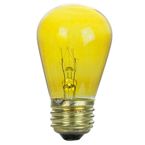 Sunlite 11S14/TY/3 Incandescent 11-Watt, Medium Based, S14 Sign Colored Bulb, Transparent Yellow
