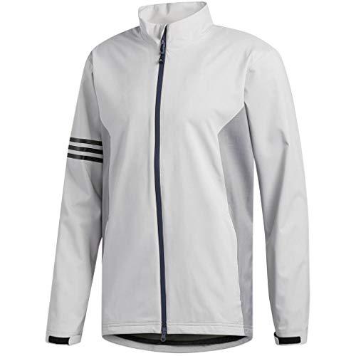 adidas Golf 2019 Mens Climaproof Full Zip Waterproof Rain Golf Jacket Grey Two XXL ()