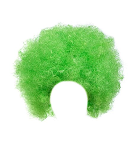 Gorse Halloween Costume Wig Cosplay Afro Clown Wig Party Funky Style for Men and Women (Green) -