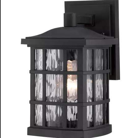 Quoizel SNN8406K Stonington Outdoor Wall Sconce Lighting, 1-Light, 100 Watt, Mystic Black (11