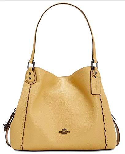 (Coach Edie Shoulder Bag 31 With Scalloped Detail SUNFLOWER/DARK)