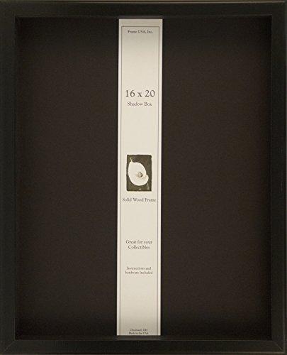 16x20 Shadow Box Wood Frame 2 1/8'' Deep(Black) by Frame USA