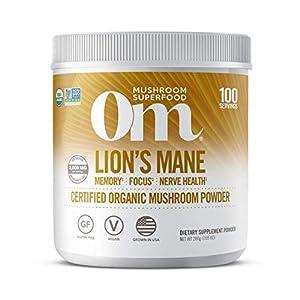 Gut Health Shop 41y97OGbqcL._SS300_ Om Mushroom Superfood Lion's Mane Mushroom Powder Supplement, Memory Support, Focus, Clarity, Nerve Health Superfood…