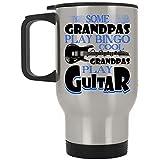 Cool Grandpas Play Guitar Travel Mug, Some Grandpas Play Bingo Mug (Travel Mug - Silver)