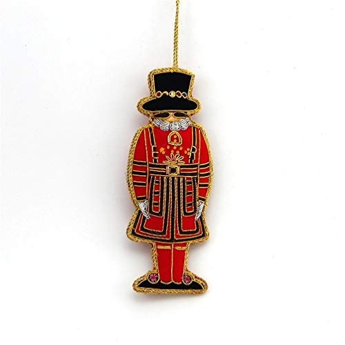 Tinker Tailor - Beefeater - Zardozi Embroidery - Christmas Ornament (Christmas Beefeater)