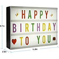 Light Up Your Life Cinematic Light Box with 124 Colorful Letters and Emojis Card A4 Size DIY Design Change Surprise life