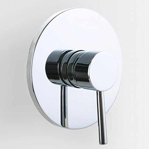JiaYouJia Round Style Solid Brass 1 Outlet Mixing Shower Valve (Mixer Shower Handle One)