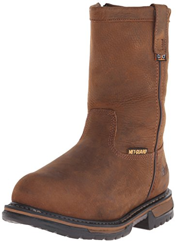 Wellington Rocky Mens (Rocky Men's 10 Inch Ironclad Wellington Steel Toe Work Boot, Brown, 9.5 W US)