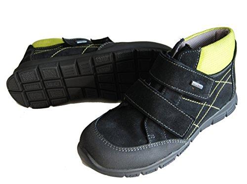Helgas Modewelt - Zapatillas de senderismo para niño Negro - schwarz (Turino schwarz)