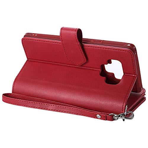 Samsung inShang red Case Design Galaxy Cover avec Support intégré Coque note9 pour Wallet 9 de Fonction avec Note Housse r114EwqxR