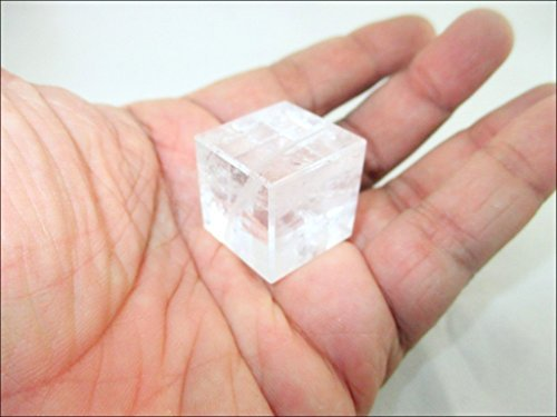 Jet Crystal Cube Pure Natural Gemstone Lemurian Healing Energy Divination Spiritual Jet International Crystal Therapy ()