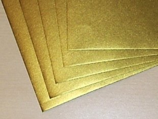 Gold C6 Greeting Card Envelopes qty 25 ARK