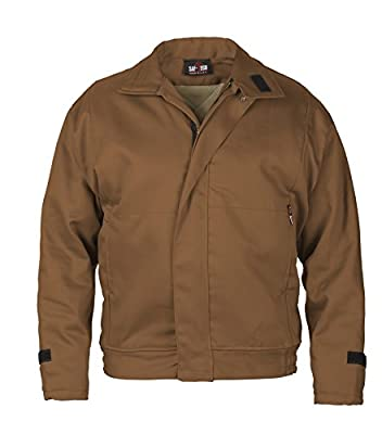 BROWN - MEDIUM - Saf-Tech FR 9OZ INDURA INSULATED WORK JACKET WITH REMOVABLE (ZIP-IN/ZIP-OUT) 10OZ MODA QUILT LINER - HRC 4 - APTV=49.8cal/m2 - MADE IN THE U.S.A.