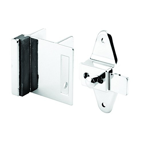 Sentry Supply 656-6950 Door Latch Set, 1-1/4 Inch, Pilaster, Zamak, Chrome, Inswing, Square, Pack of 1 Kit ()