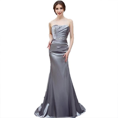 Dress Neck cotyledon Slim Gown Women`s Sleeveless Dresses Strapless Fit Boat wBfXgS