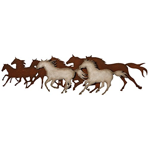 Black Forest Decor Galloping Horses Metal Western Wall Art - Rustic - Horse Silhouette Metal