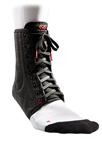 McDavid Classic White Lightweight Laced Ankle Brace , Black, medium
