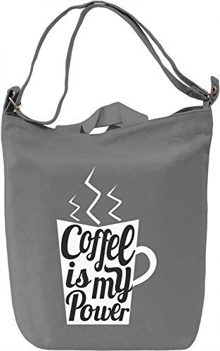 Coffee power Borsa Giornaliera Canvas Canvas Day Bag  100% Premium Cotton Canvas  DTG Printing 