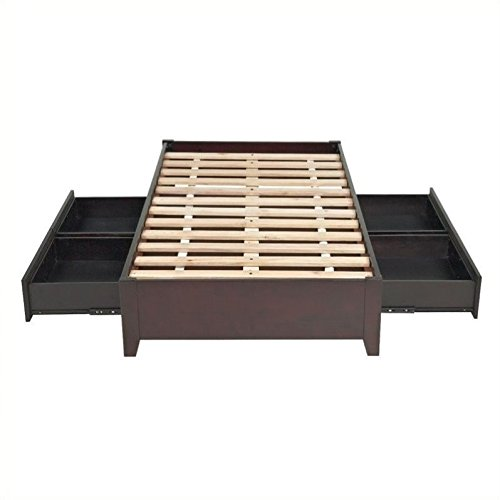 - Modus Furniture Simple Platform Storage Bed, Espresso, Full