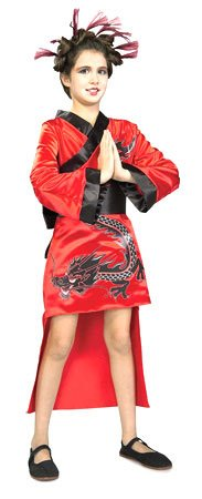 12-14 Dragon Lady Red Costume
