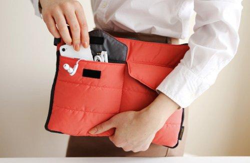 Brilliance Co Storage Bag Organizer Pouch Insert For Handbag, Tablet PC Bag - Peach Rojo