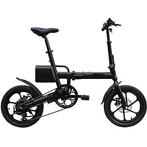 41y9B3G3N L. SS300 JXH 16in Pieghevole E-Bike Lega di Alluminio Ultraleggera Scooter Portatile con Rimovibile Grande capacità agli ioni di…