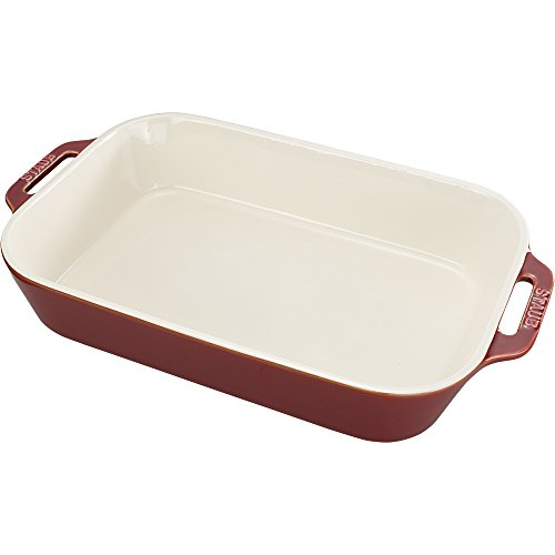 Staub 40511-889 Baking-Dishes, 13' x 9', Rustic Red