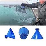 Scrape A Round Magic Cone,ADSRO Snow Shovel Brush Scrape Snow Shovel for Car Window Multipurpose Snow Removal Brush Scraper Ice Shovel Car Vehicle