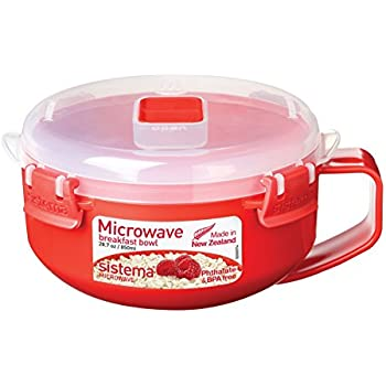 Sistema Microwave Collection Breakfast Bowl, 28 oz./0.8 L, Red