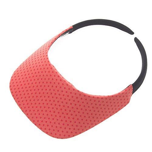 The ''Original'' No Headache Womens Sun Visor Hat (Coral Dot)