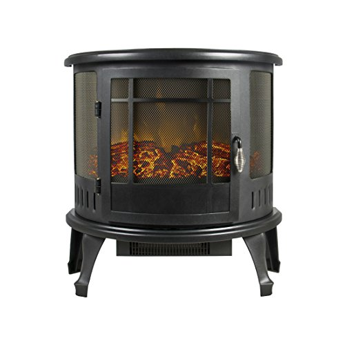 Cheap Portable Electric Fireplace Stove 1500W Space Heater Realistic Flame Corner Unit Black Friday & Cyber Monday 2019