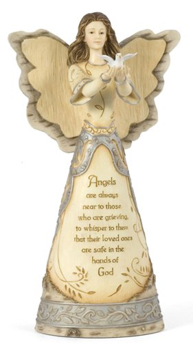 Pavilion Gift Company Elements 9-Inch Angel Releasing Dove, with Sympathy