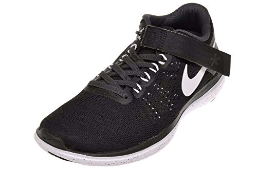 Nike Wmns Flex 2016 Rn Flyease, Zapatillas de Running Para Mujer Negro (Black / White-Anthracite-Cl Grey)
