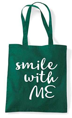 Tote Statement Me Shopper With Green Dark Smile Bag Positive x6aIwqA