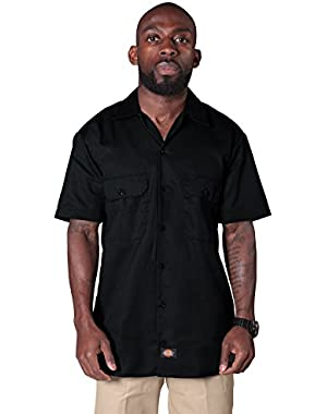Short Sleeve Work Shirt - Black Dickies1574BK Mens Classic Work Shirt