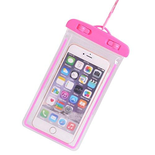 Waterproof Case Phone Pouch Luminous Underwater Underwater Bag up to 6
