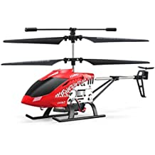 Gbell JJRC JX01 3.5CH 2.4G Gyro RC Helicopter for Kids Adults Outdoor,Alloy Remote Control Copter Beginner With Attitude Hover,Red Blue (Red)