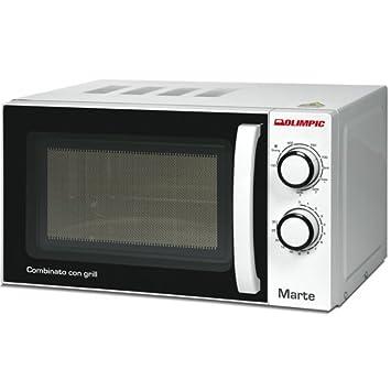 Olimpic 52603 Microondas combinado con grill, 20 l, 1200 W, blanco/negro