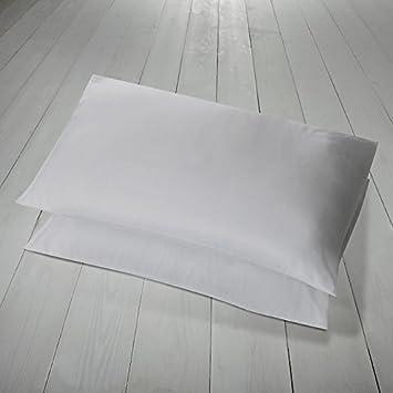 Par de fundas de almohada blancas Hachette, 100% algodón egipcio (400hilos)
